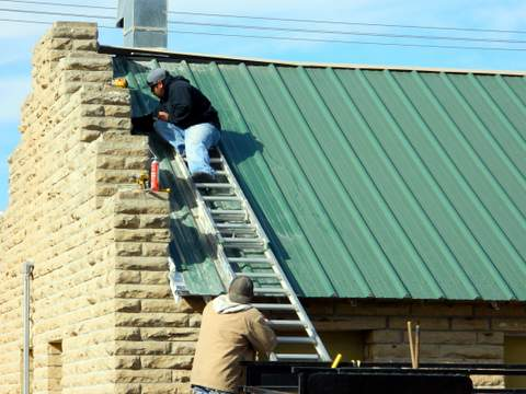 New Roof at East Maple WPA Site