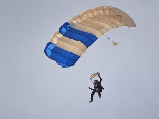 Wings of Blue Descend on Lamar Airport