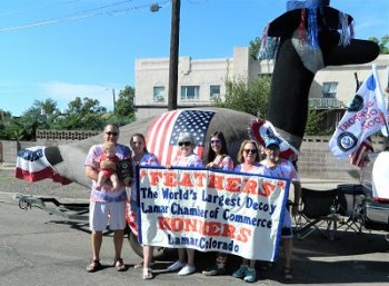 Feathers Takes a Third in State Fair Parade