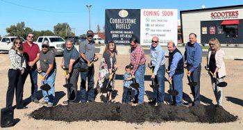 Groundbreaking for Cobblestone Motel